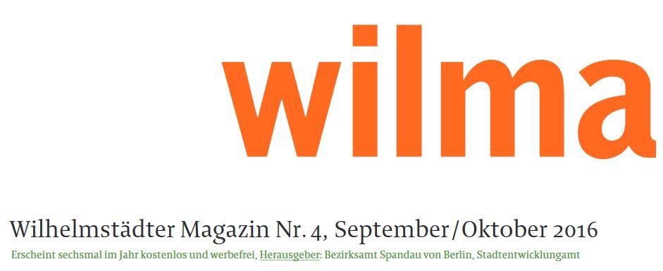 Wilhelmstädter Magazin Nr. 4, September / Oktober 2016