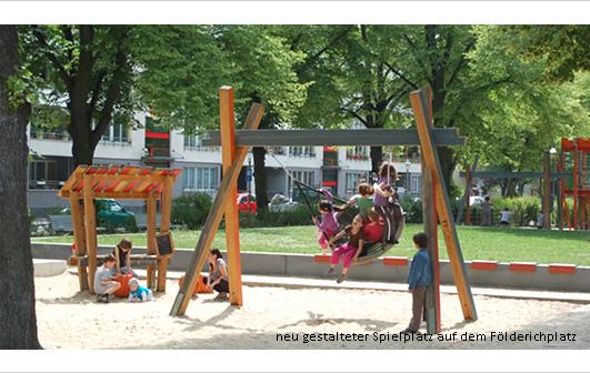 Neugestaltung Földerichplatz Spielplatz Berlin