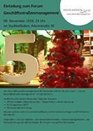 Forum Geschäftsstraßenmanagement am 8. November 2016